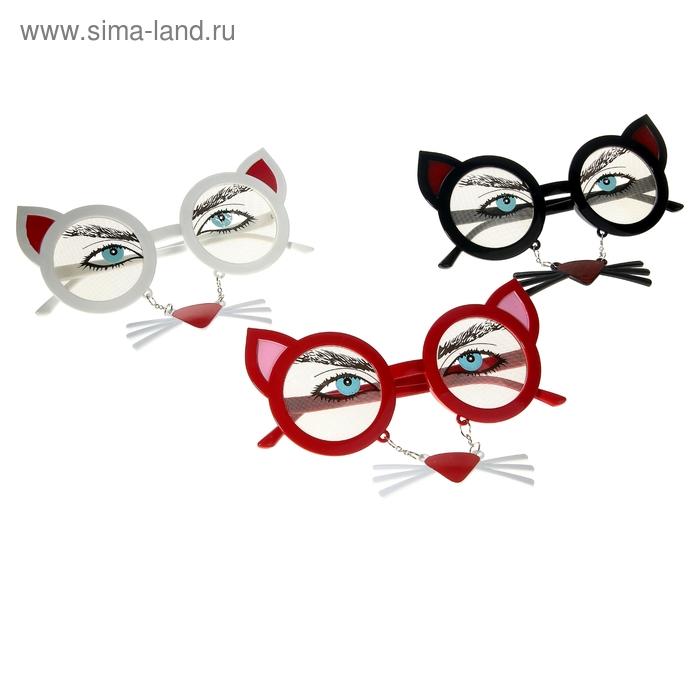"""Карнавальные очки """"Кошка"""", цвета МИКС"""