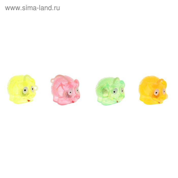 """Ёжка резиновый """"Слоник"""", световой, пищит, цвета МИКС"""