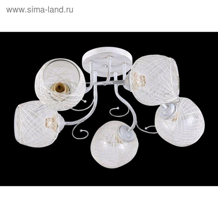 """Люстра """"Вилла"""" 5 ламп Е27 60Вт белый"""