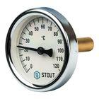 """Термометр STOUT, биметаллический, с погружной гильзой 50 мм, DN63, G1/2"""" с самоуплотнением"""