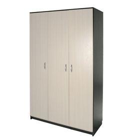 Шкаф распашной 3-х створчатый 1210х500х2100 Венге темный/Венге светлый