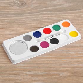 Краски-грим с кистью-аппликатором и зеркалом, 10 цветов
