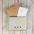 """Ящик почтовый горизонтальный, с замком-щеколдой, """"Письмо"""", серый"""