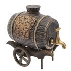 """Бочка """"Патриот"""" на деревянной повозке, 2,5 л, латунный кран"""