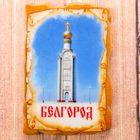 """Магнит в форме фрески """"Белгород. Звонница на Прохоровском поле"""", 8*5 см"""