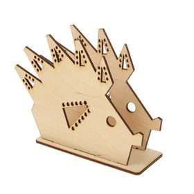 Салфетница из фанеры для декора (3 детали) 'Оригами. Ёж' 16,1х12,4х6 см Ош
