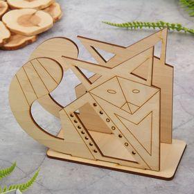 Салфетница из фанеры для декора (3 детали) 'Оригами. Лис' 15,5х13,3х6 см Ош