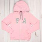 Джемпер (толстовка) для девочки, рост 98 см, цвет розовый/серый меланж ZG 08079-MP-1