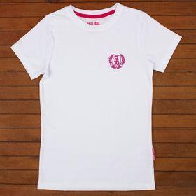 Фуфайка (футболка) для девочки, рост 134 см, цвет белый ZG 02523-W-2