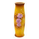 """Ваза """"Рамина"""" большая, роза с бусиной, розово-коричневая"""