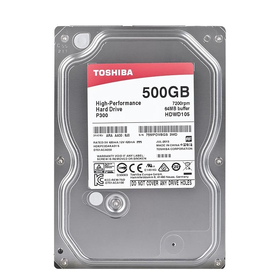 Жесткий диск Toshiba SATA-III 500Gb HDWD105EZSTA P300 (7200rpm) 64Mb 3.5' Rtl Ош