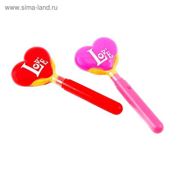 "Световая палочка ""Сердечко"", цвета МИКС"