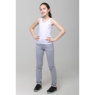 Майка для девочки, рост 146 см, цвет белый