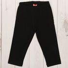 Бриджи для девочки, рост 98 см, цвет чёрный CAK 7428