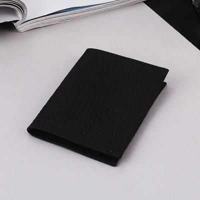 Обложка для пенсионного удостоверения, цвет чёрный