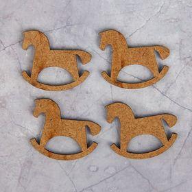 Набор декоративных элементов для творчества (4 шт) 'Лошадка-качалка'3х3,2 см Ош