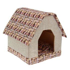 Дом с 3D-крышей 39 х 39 х 43 см, микс цветов