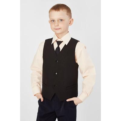 Жилет для мальчика, рост 152 см, цвет чёрный 15-201-1