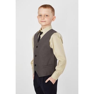Жилет для мальчика, рост 164 см, цвет тёмно-серый 15-201-1