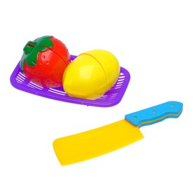 """Набор продуктов для нарезки """"Овощи и фрукты"""", на липучках, МИКС"""