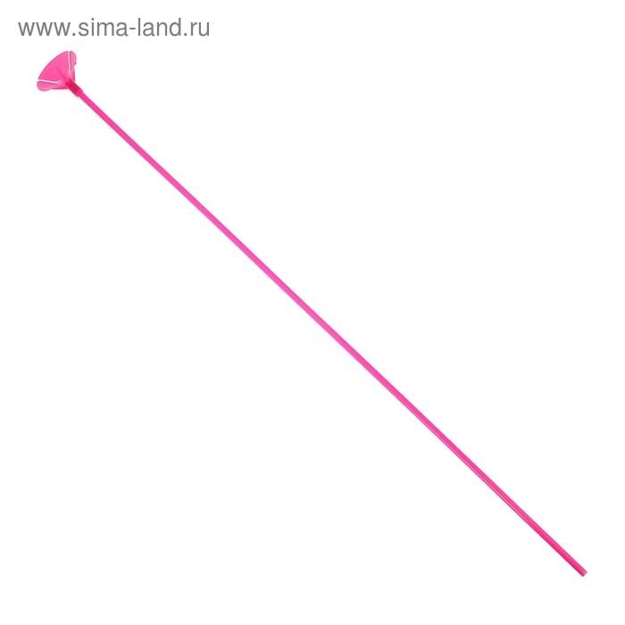 Трубочка+зажим для шаров, d=4 мм, длина 50 см, набор 12 шт., цвет розовый