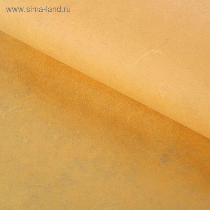 Бумага ручной работы, Dokmai, гладкая, светло-оранжевый, 65 х 125 см