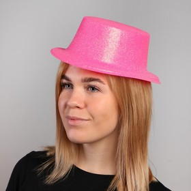 "Карнавальная шляпа ""Цилиндр"", р-р 56, цвета МИКС"