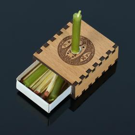 Набор ларец желаний 'Богатство' со свечками, 5,2х4,5х2 см Ош