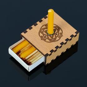 Набор ларец желаний 'Исполнение желаний' со свечками, 5,2х4,5х2 см Ош