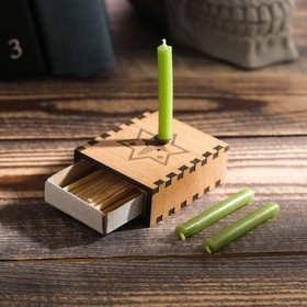 Набор ларец желаний 'Крепкое здоровье' со свечками, 5,2х4,5х2 см Ош