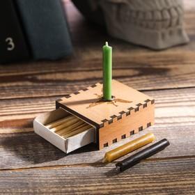 Набор ларец желаний 'Лучшая судьба' со свечками, 5,2х4,5х2 см Ош