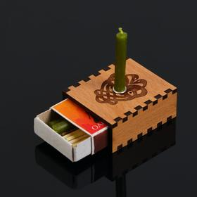 Набор ларец желаний 'Гармонизатор отношений' со свечками, 5,2х4,5х2 см Ош