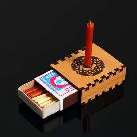 Набор ларец желаний 'Притяжение любви' со свечками, 5,2х4,5х2 см Ош