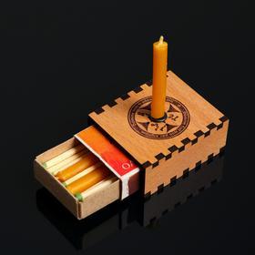Набор ларец желаний 'Будь счастлив' со свечками, 5,2х4,5х2 см Ош