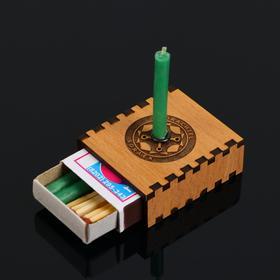 Набор ларец желаний 'Новая работа' со свечками, 5,2х4,5х2 см Ош