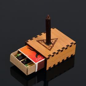 Набор ларец желаний 'От вредных привычек' со свечками, 5,2х4,5х2 см Ош