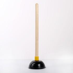 Вантуз  d=130мм с деревянной рукояткой h=40 см