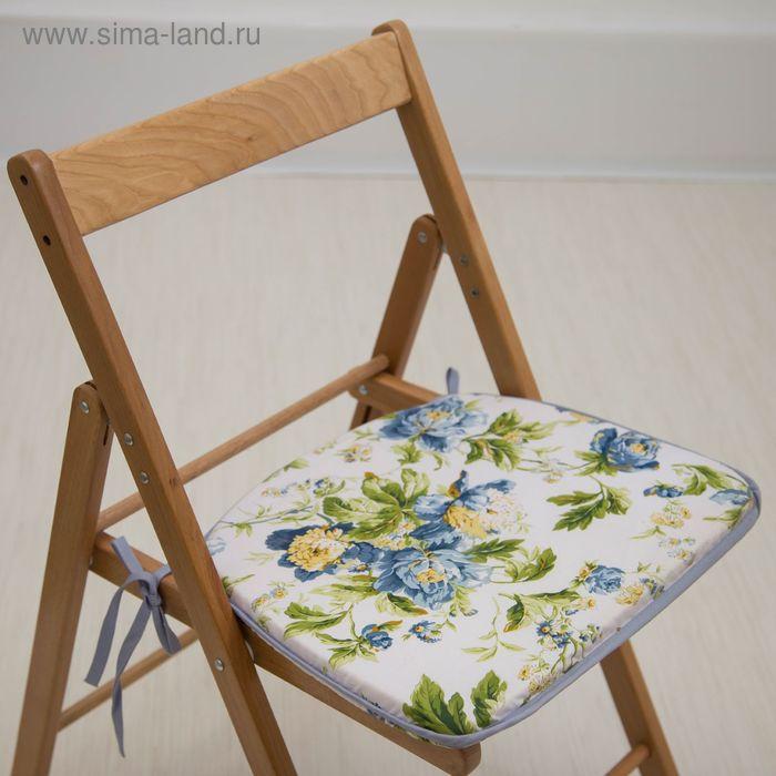 """Сидушка на стул """"Весенняя"""",41 х 36 х 3 см"""