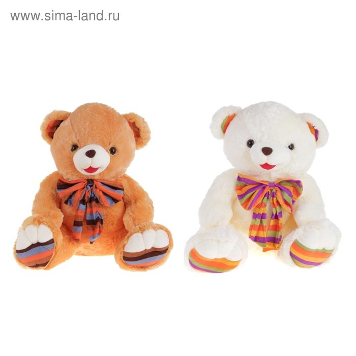 """Мягкая игрушка """"Медведь"""", бант лапы в полоску, МИКС"""