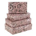 """Набор коробок 4в1 """"Моноциклы на розовом"""", 30 х 20 х 8 - 24 х 14 х 5 см"""
