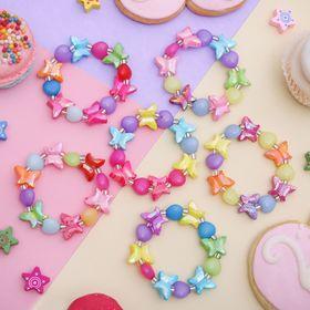 Браслет детский 'Выбражулька' сердечки с бабочками, цвет МИКС Ош
