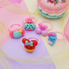 Кольцо детское 'Выбражулька' полянка с завитками, цвет МИКС, форма МИКС, безразмерное Ош