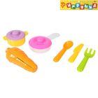 "Набор посуды с плитой ""Вкусно готовим-2"", 6 предметов, цвета МИКС"
