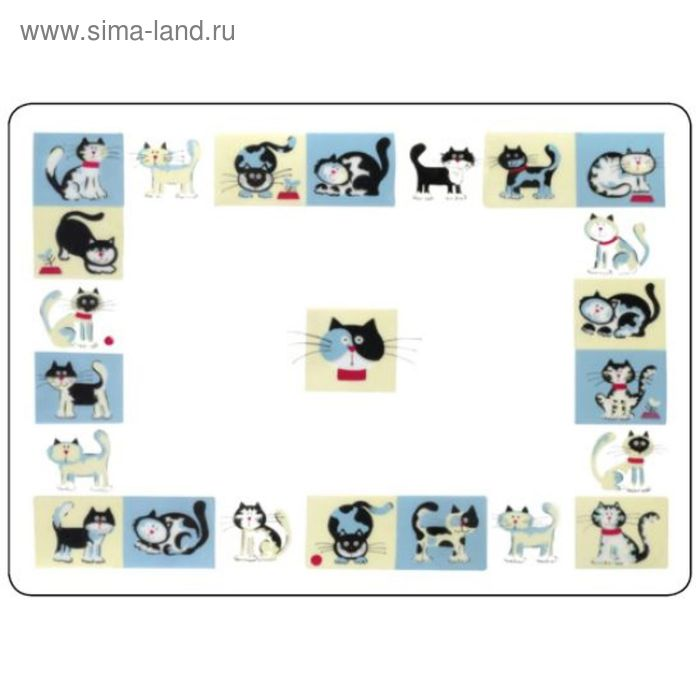 """Коврик под миски """"Funny Cat"""",  43х32 см"""