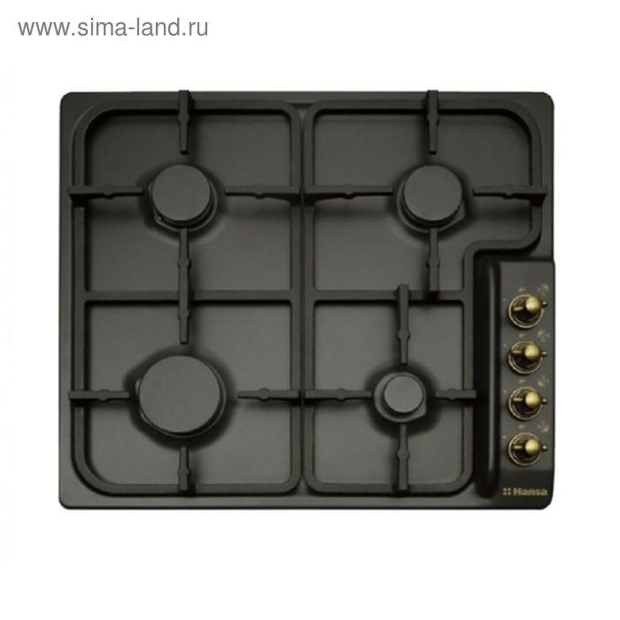 Варочная поверхность Hansa BHGA 62039, газовая, 4 конфорки, черный