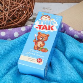 Зубная паста детская Тик-так с ароматом клубники 0+, 62 г Ош