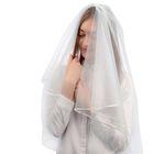 Фата свадебная 150х300 см, белая