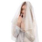 Фата свадебная 150х120 см, айвори