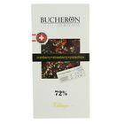 """Шоколад """"Bucheron"""" горький с клюквой, клубникой и фисташками в картоне 100 гр"""
