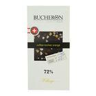 """Шоколад """"Bucheron"""" горький с зернами кофе и апельсином в картоне 100 гр"""